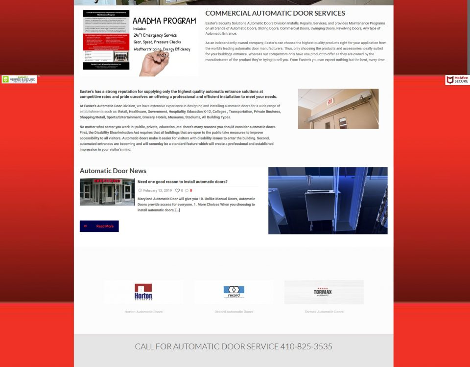 automatic doors md