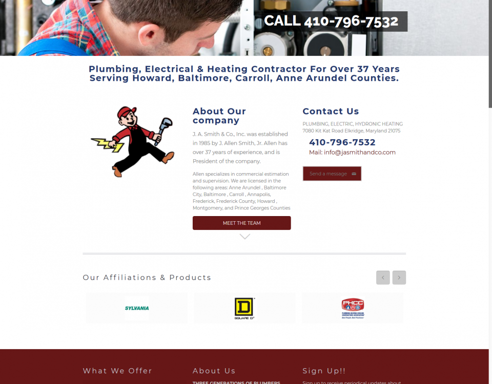 plumber howard county